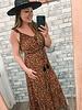 Rust Leopard Maxi Dress