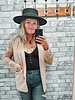 Boyfriend Lace Sleeve Blazer | Blush