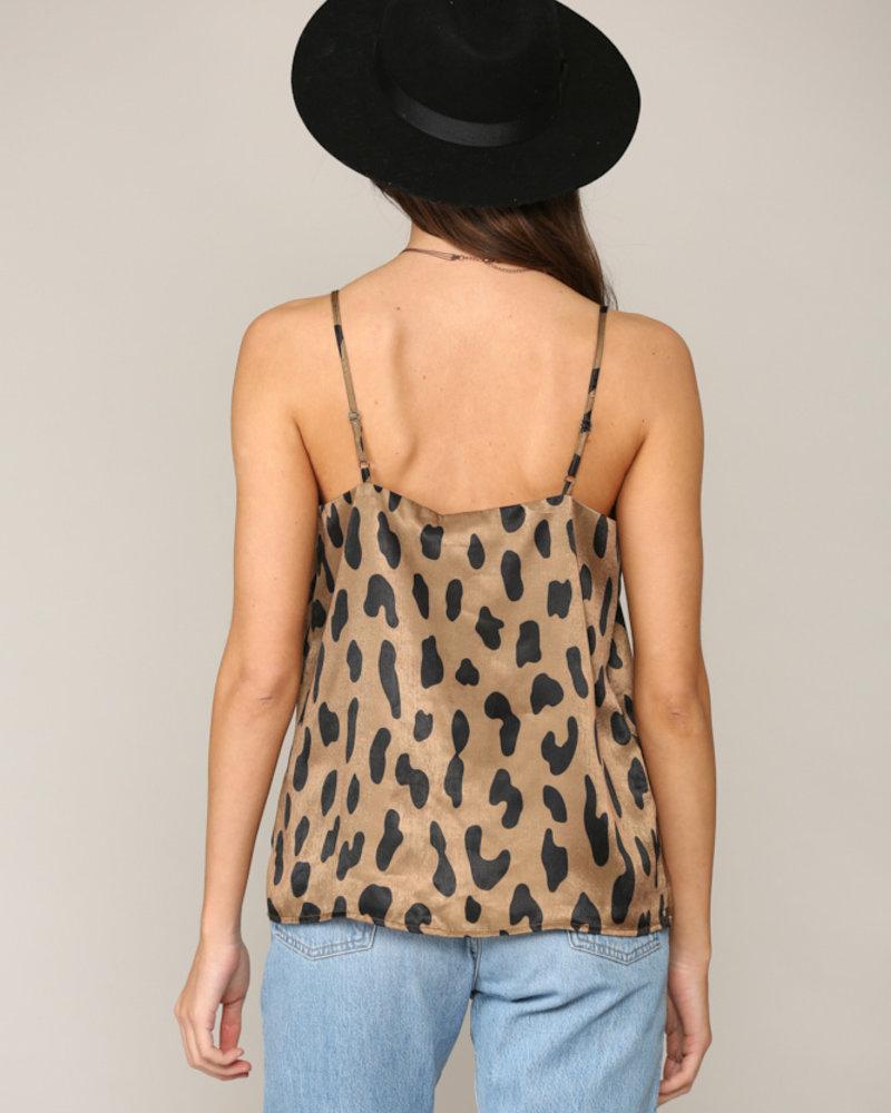 Leopard Print Strappy Tank
