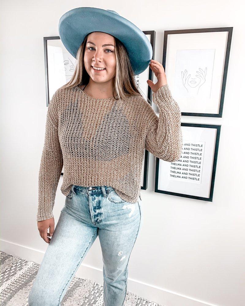 Goldie Crochet Sweater
