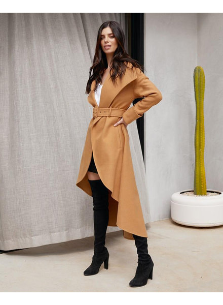 Camel High Low Coat