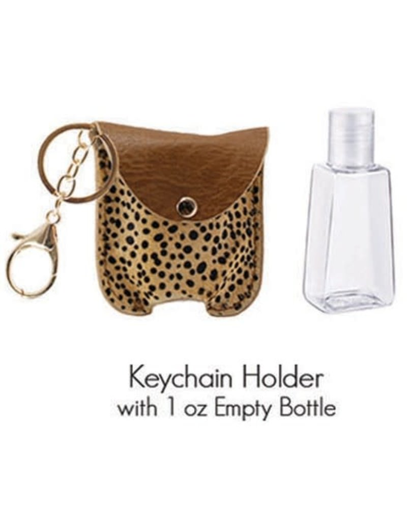 1 Oz Hand Sanitizer Keychain Holder | Ch-Brown