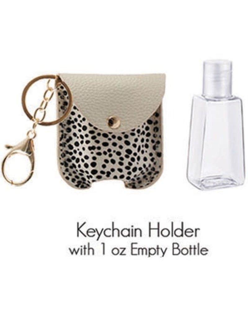 1 Oz Hand Sanitizer Keychain Holder   Ch-White