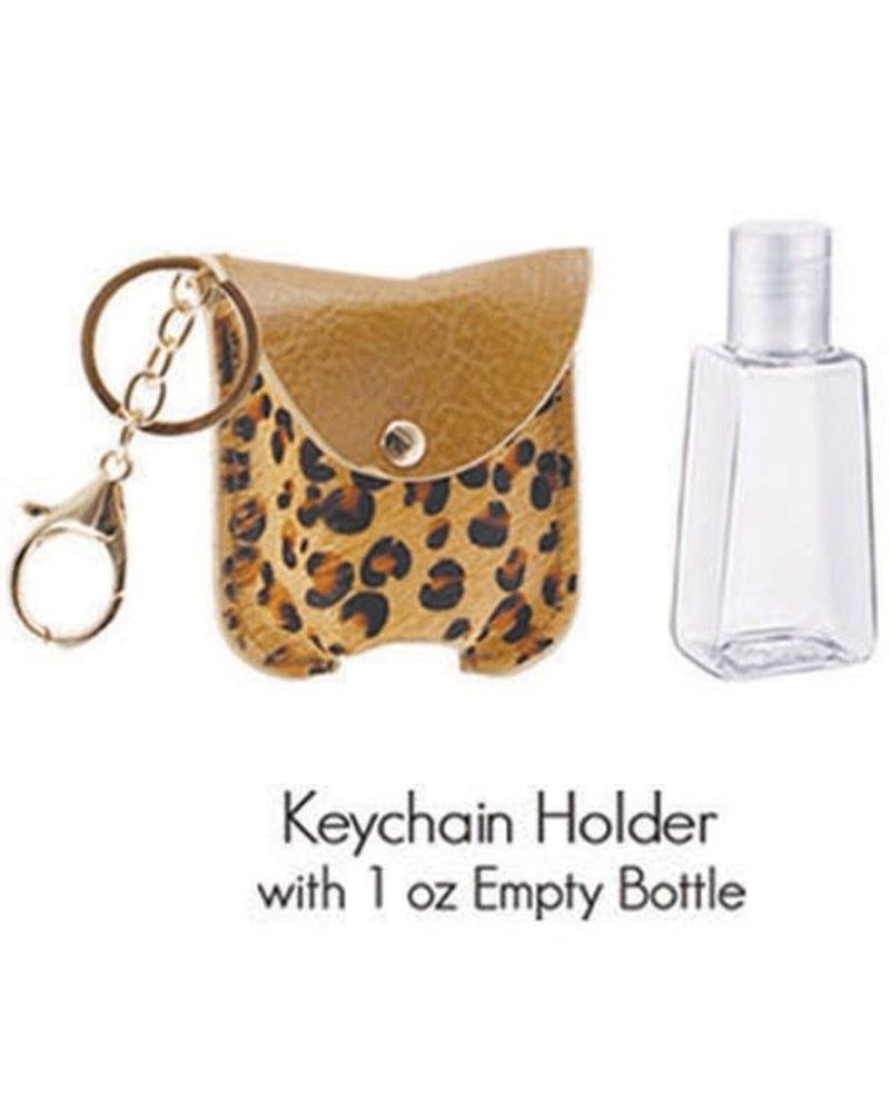 1 Oz Hand Sanitizer Keychain Holder | L-Brown