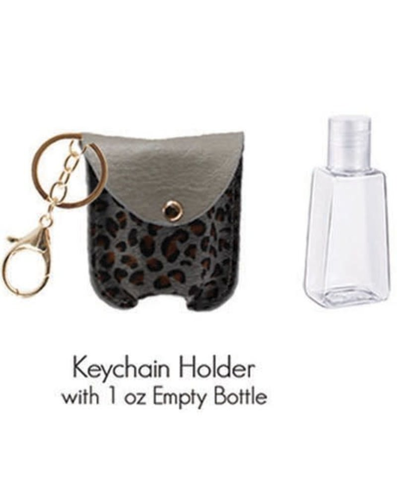 1 Oz Hand Sanitizer Keychain Holder | L-Grey