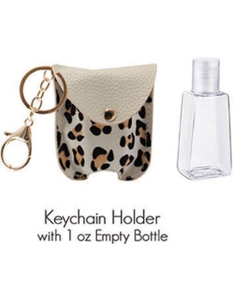 1 Oz Hand Sanitizer Keychain Holder | L-White