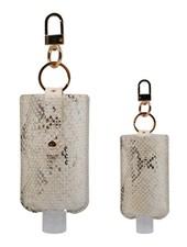 3 Oz Hand Sanitizer Pouch Holder Keychain   S-White