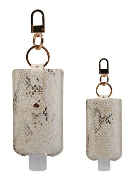 3 Oz Hand Sanitizer Pouch Holder Keychain | S-White