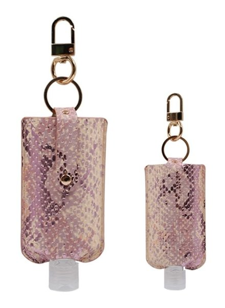 3 Oz Hand Sanitizer Pouch Holder Keychain | S-Pink