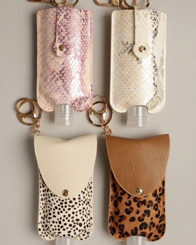 3 Oz Hand Sanitizer Pouch Holder Keychain | S-Pink