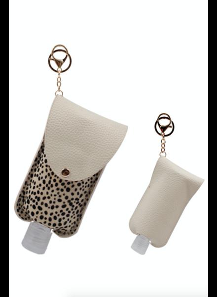 3 Oz Hand Sanitizer Pouch Holder Keychain | C-White
