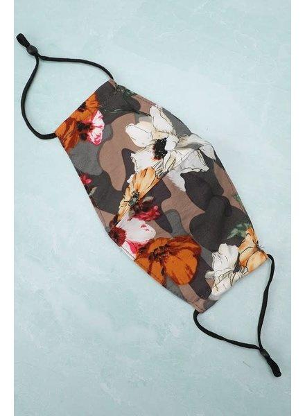 Washable Face Mask w Filter Pocket | Floral