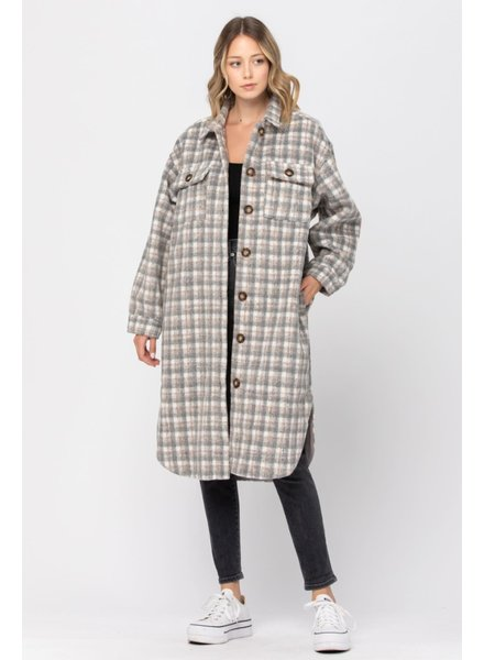 CALISTA Lumberjack Coat | Grey