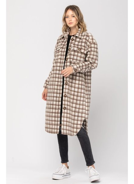 CALISTA Lumberjack Coat | Brown