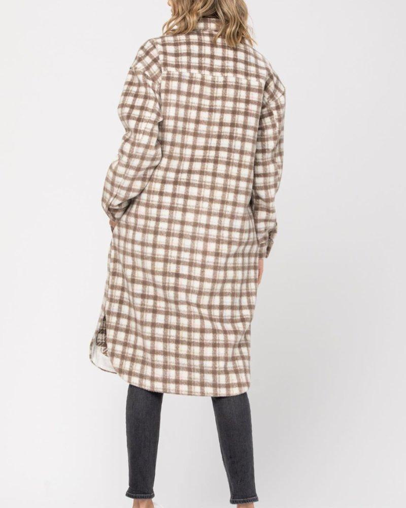 CALISTA Lumberjack Coat | Brown