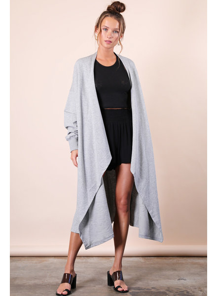 Oversized French Terry Cardigan
