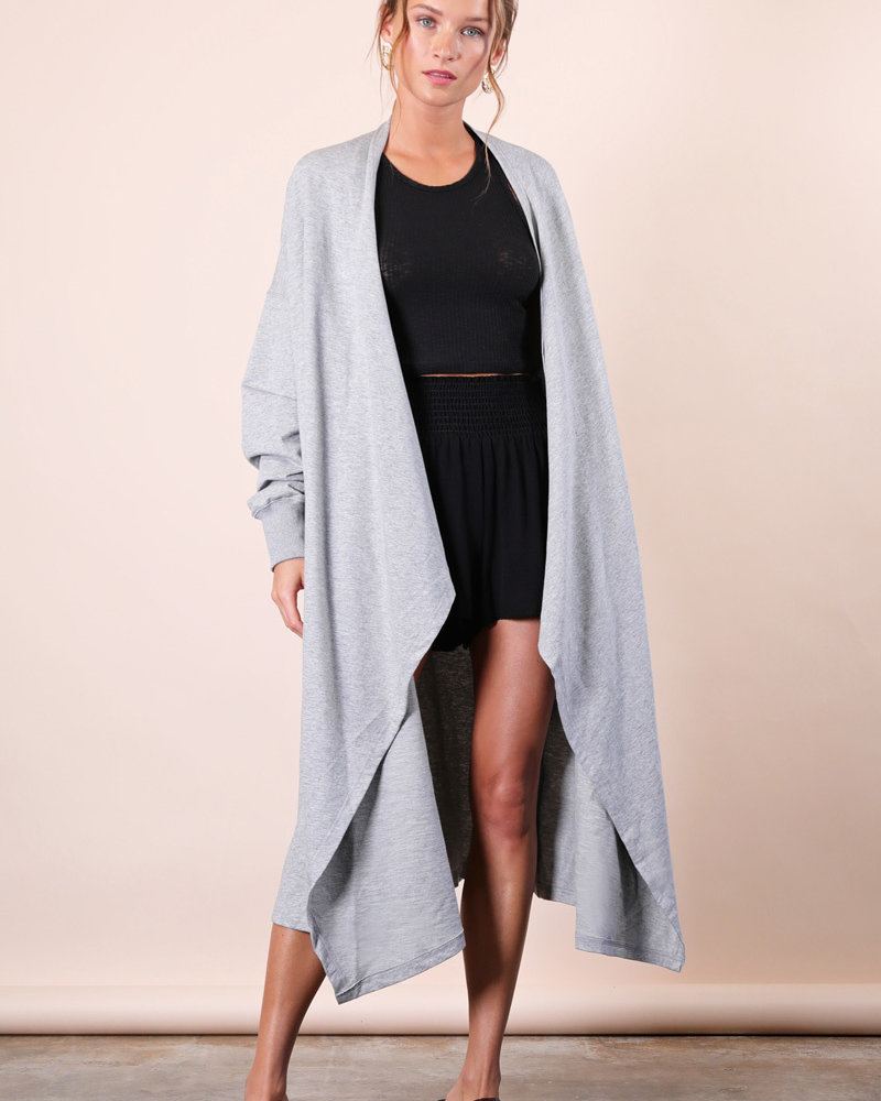 CALISTA Oversized French Terry Cardigan