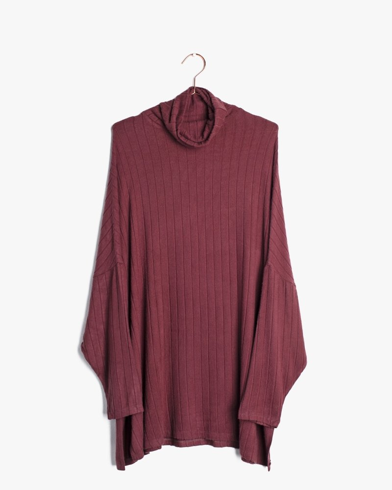 The Boxer Top | Burgundy