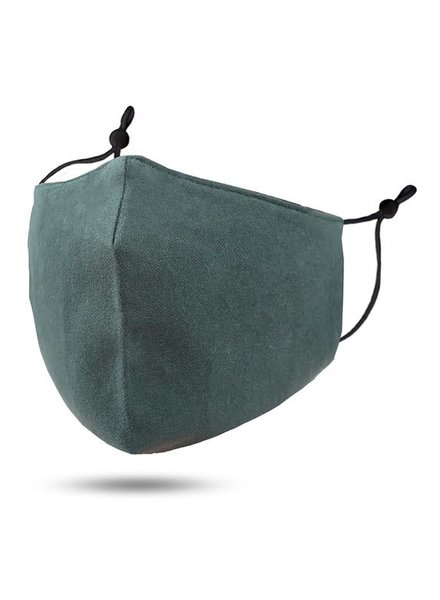 Soft Lining Cotton Mask w Filter Pocket | Green