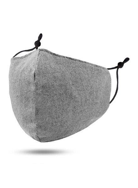 Soft Lining Cotton Mask w Filter Pocket | Grey