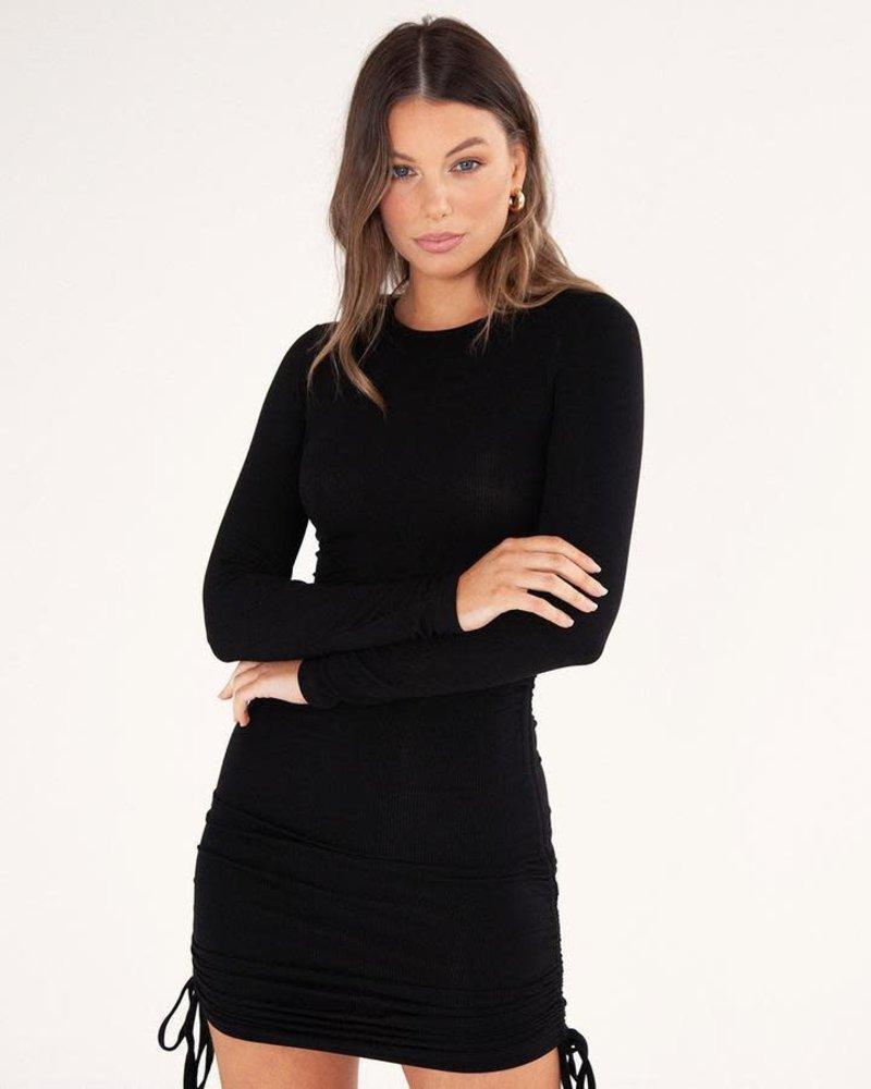 Gathered Mini Dress   Black