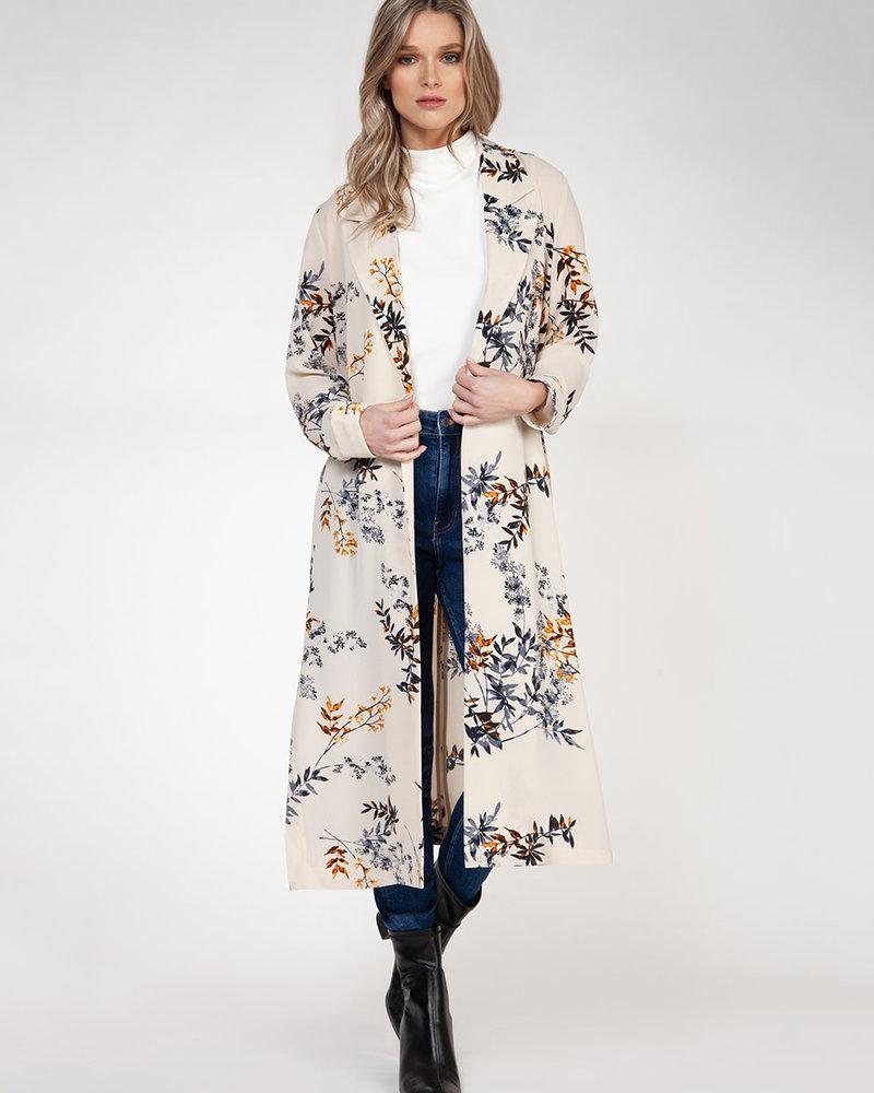 Indigo Foliage Kimono
