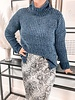 Cowl Neck Longline Sweater