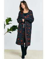 Charcoal Print Duster