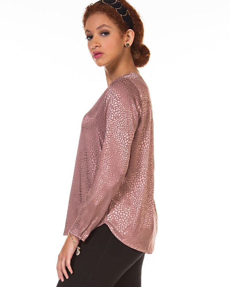 Dusty Rose Button Blouse