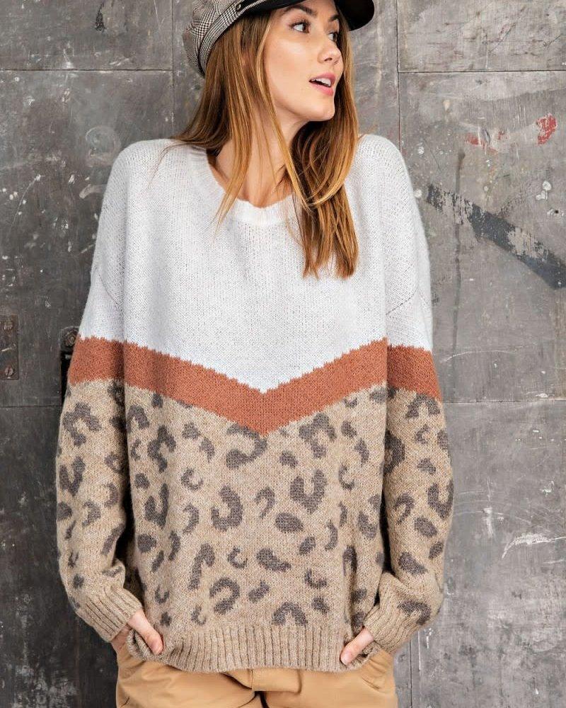 Maria Leopard Sweater