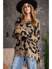 Raw Leopard Sweater