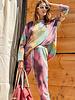 Tie Dye Terry Knit Set | Violet