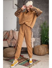 Teddy Bear Animal Print Set | Camel