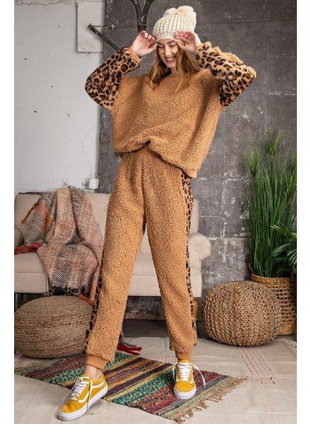 Teddy Bear Animal Print Set | Camel