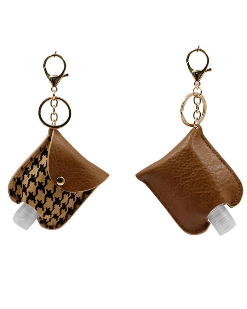 1 Oz Hand Sanitizer Keychain Holder | Brown