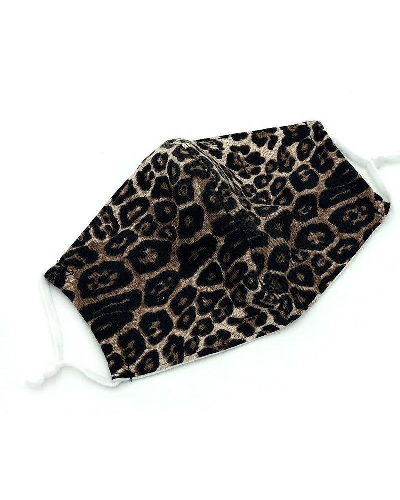 Reusable Cotton Face Mask | Leopard Taupe