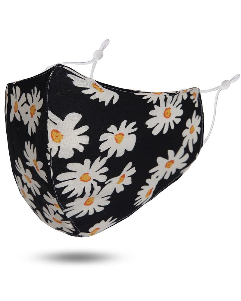Reusable Cotton Face Mask | Black Floral