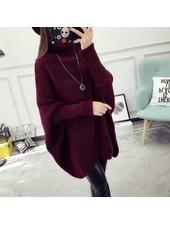 Bat Sleeve Sweater | Burgundy