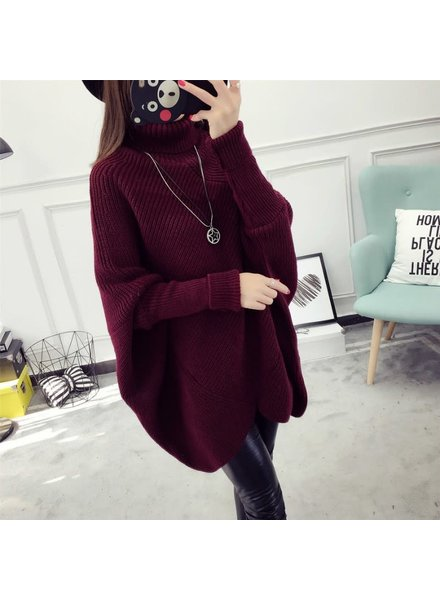 Bat Sleeve Sweater | Burgundy