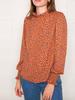 Leanne Animal Print Blouse | Rust