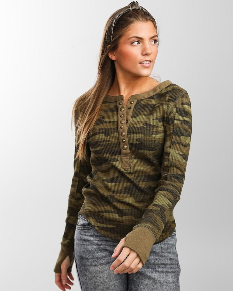 Free People Everest Henley Print