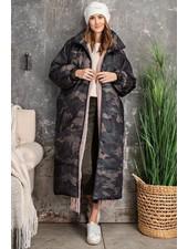 Maxi Puffer Coat   Camo