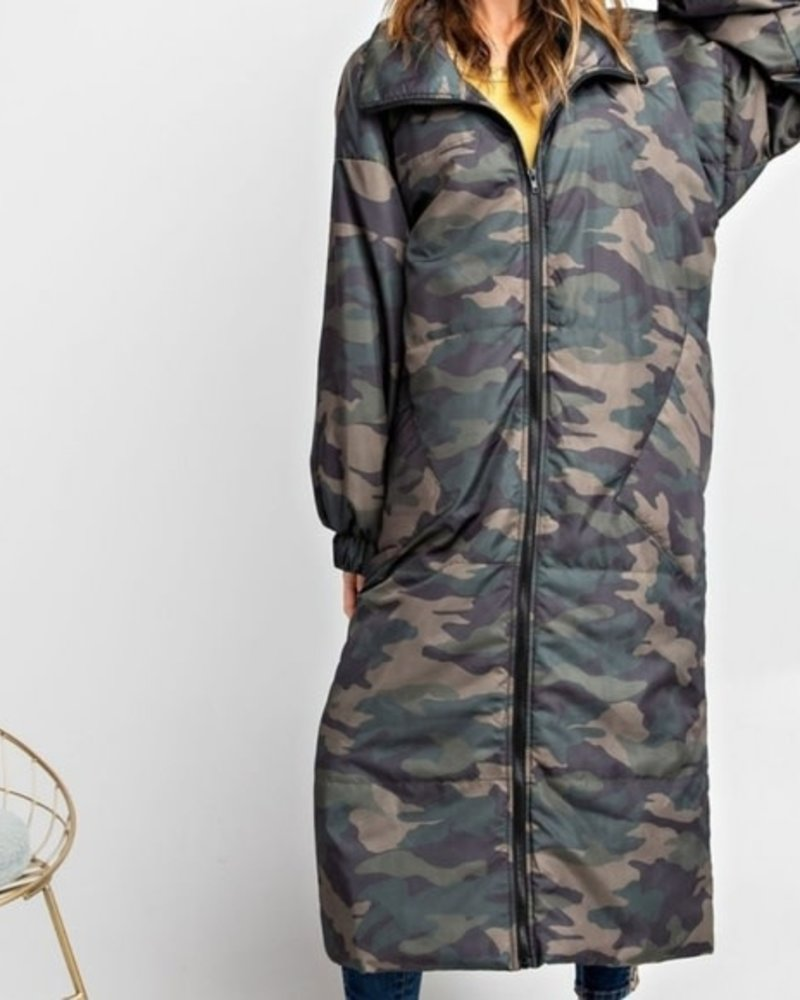Maxi Puffer Coat | Camo