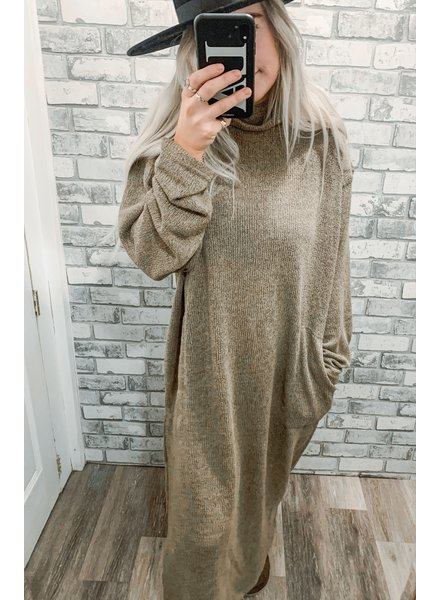 Hacci Mock Neck Sweater Dress