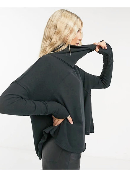 Free People Cozy Time Funnel Top | Charcoal