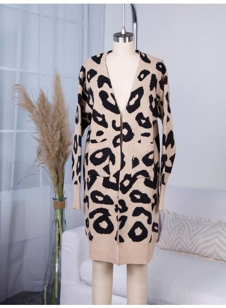 Corina Leopard Cardigan | Mocha