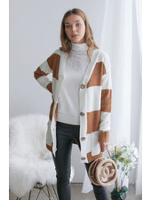 Carmel Stripe Pocket Cardigan