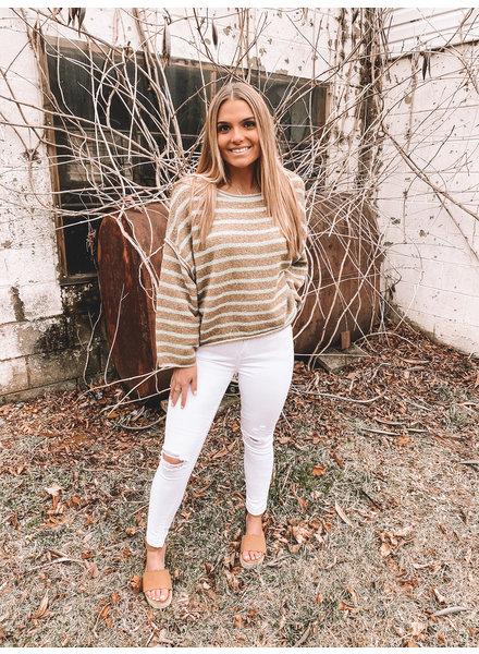 Free People Bardot Sweater   Green