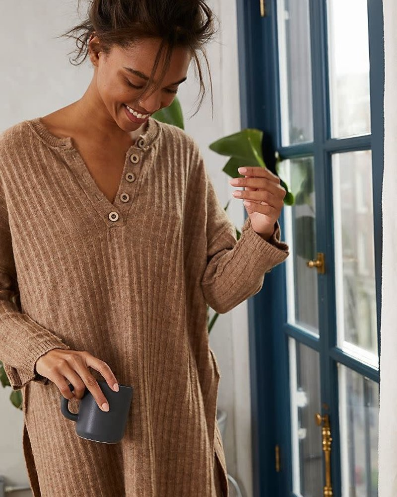 Free People Around The Clock Pullover   Army
