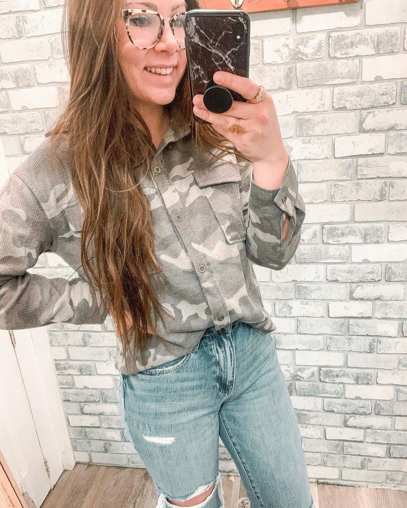 Camo Thermal Knit Shirt